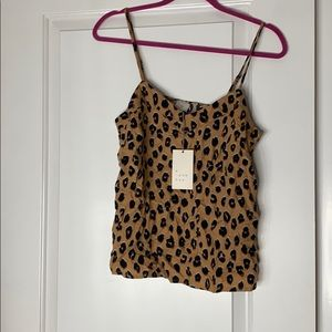 New with tags- a new day leopard cami